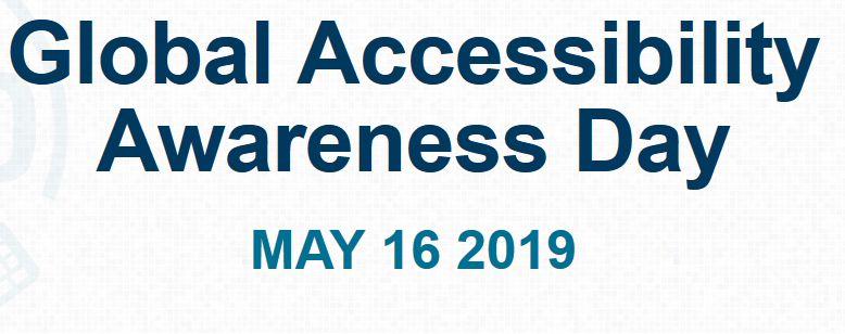 Schriftzug Global Accessibility Day