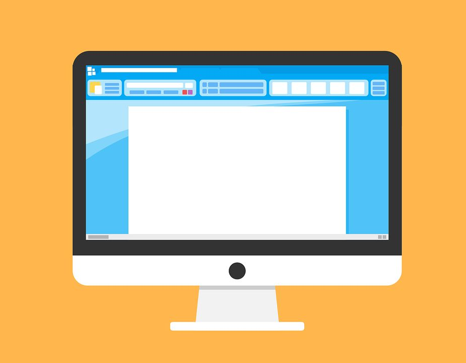 Computermonitor zeigt Textverarbeitung