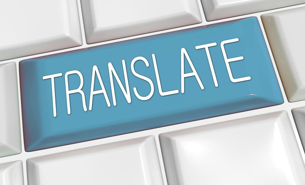 Schild mit dem Wort Translate